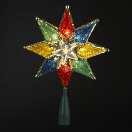 christmas tree topper jpeg 8 quot lighted clear 8 point tree topper multi lights walmart