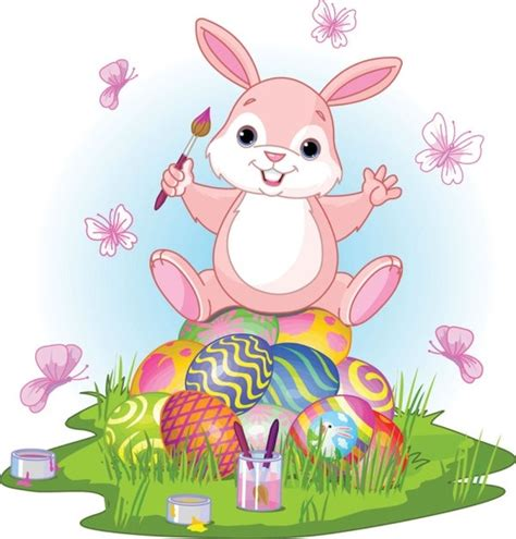 Easter Bunny Footprints Template Vector