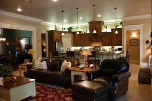 open concept kitchen living room designs one big