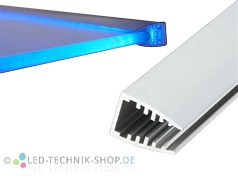glasplatte beleuchten aluminium led profil lts 20 alu eloxiert f 252 r
