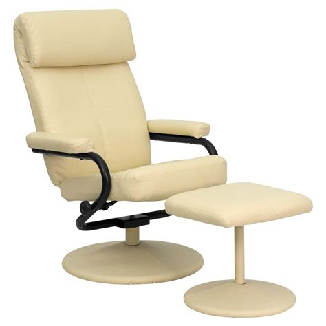 flash furniture leather recliner flash furniture contemporary cream leather recliner and