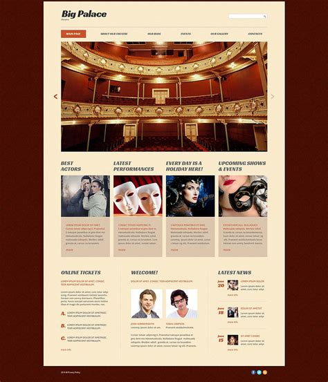 bid websites theater website template