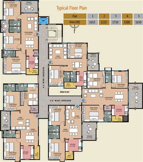 1710 sq ft 3 bhk 3t apartment for sale in modi properties
