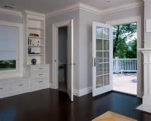 dark floors white trim gray walls house stuff pinterest