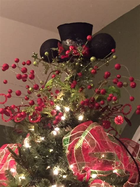 diy disney christmas tree topper living  disney
