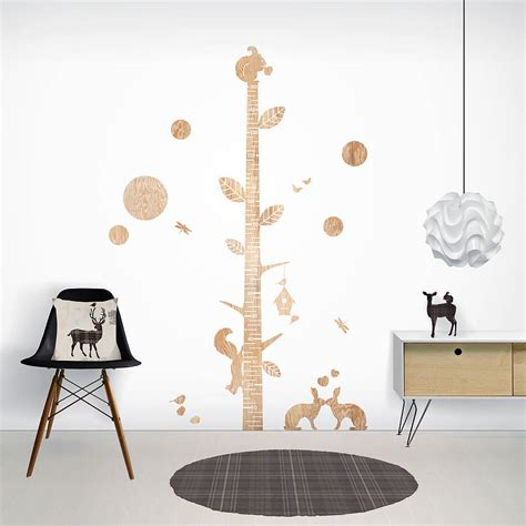 height wall sticker wood print height chart wall stickers by funky