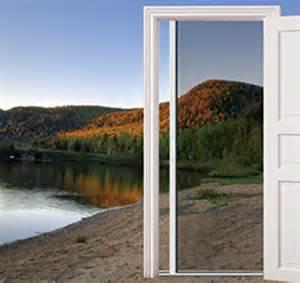 retractable patio screen door larson doors retractable screen doors