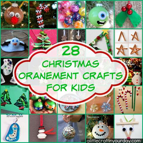 Craft Ideas For Kids Halloween - 28 christmas ornament crafts for kids a little craft in your day