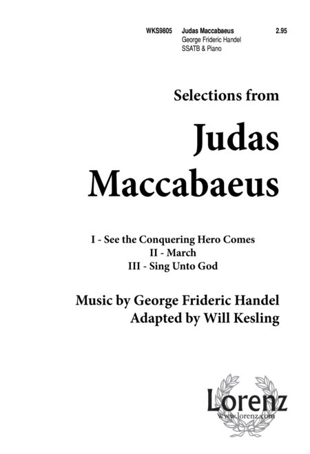 The Judas Sheep Large Print 16pt judas maccabaeus selections sheet by