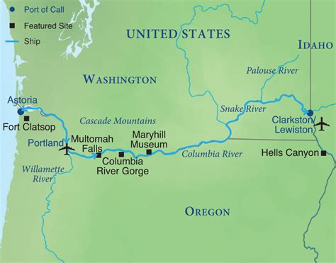columbia river usa map lewis clark cruise smithsonian journeys