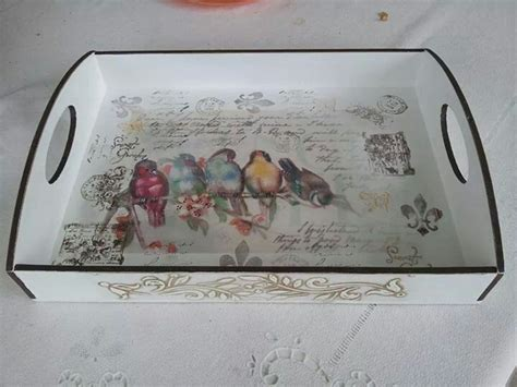 Decoupage Tray Ideas - best 25 diy decoupage wooden tray ideas on