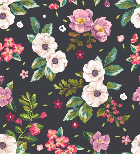 seamless pattern flower retro flower pattern seamless vector free vector in