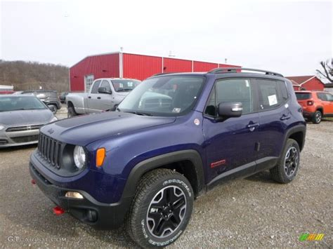 jeep 2016 blue 2016 jetset blue jeep renegade trailhawk 4x4 110147093