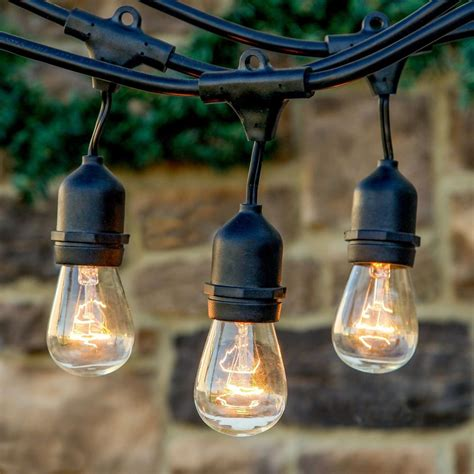 Outdoor Patio Hanging String Lights Outdoor Vintage Style Edison Hanging String Lights Weatherproof Commercial New Ebay
