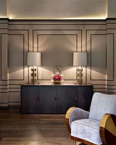 deco wall panels wall treatment interior design chobham stephen clasper