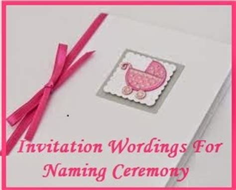 naming ceremony invitation matter in sle invitation wordings naming cermony