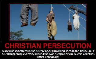 Christian persecution what did you say