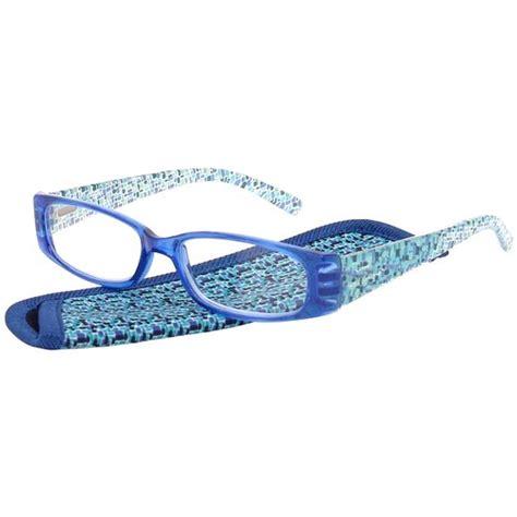 foster grant s plastic reading glasses iliana blue