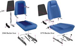 mustang front seat parts 1965 1973 npd