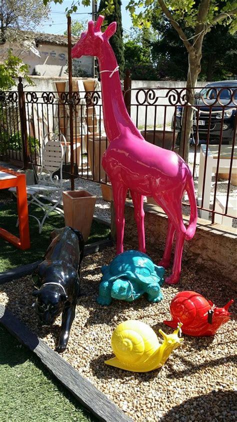 d 233 co jardin animaux resine