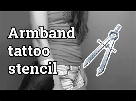 how to make tattoo stencil how to make armband stencil easily
