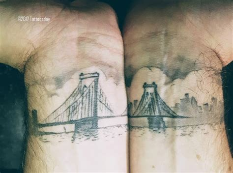 speakeasy tattoo peekskill ny tattoosday a tattoo blog seth s wrists bridge the river