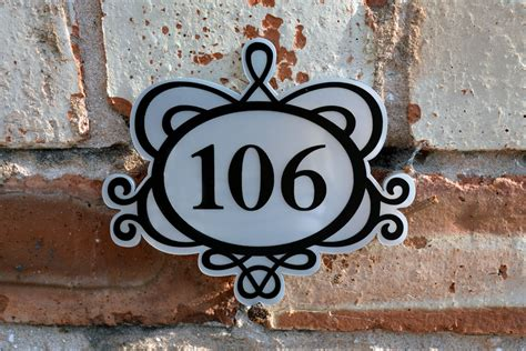 Front Door Number Plaques Ornate Decorative House Number Front Door Plaque By Capoladesigns