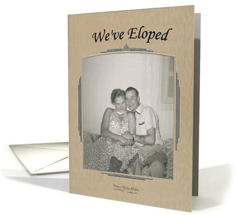 We've Eloped Announcement   Retro FUNNY card (816825)