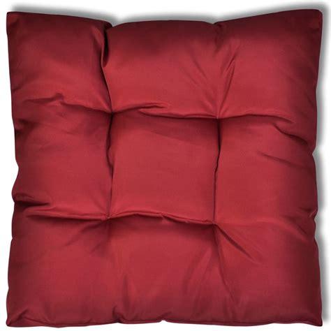 upholstered seat cushions upholstered seat cushion 80 x 80 x 10 cm wine www