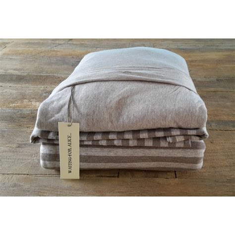 stripe bed linen jersey bed linen taupe stripe waiting for
