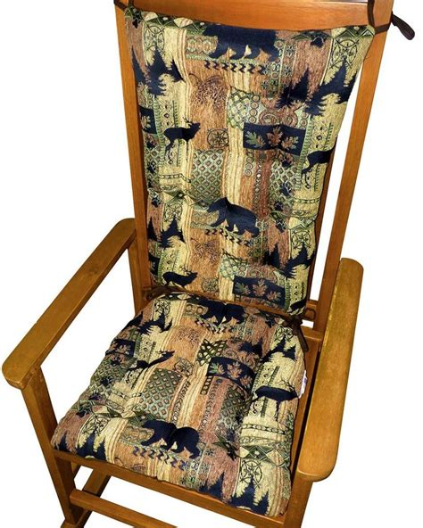 rustic rocking chair pads best 25 rocking chair cushions ideas on