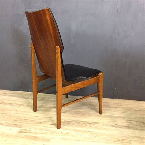 Black Vinyl Dining Chairs Walnut And Black Vinyl High Back Dining Chairs Retrocraft Design Collection Seating