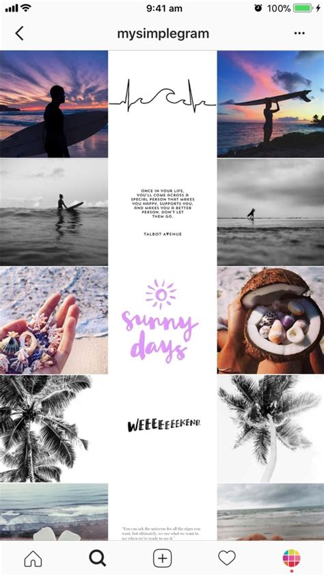 get layout on instagram 9 types of instagram grid layouts planner tips