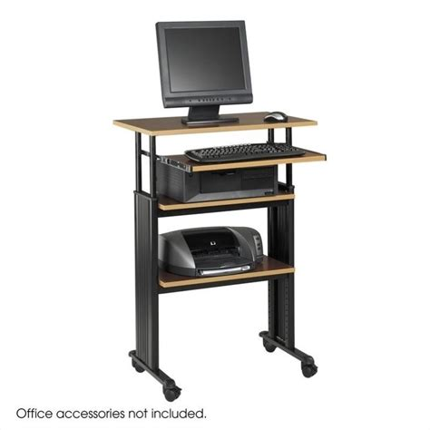 stand up adjustable height workstation in cherry 1929cy