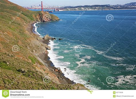 black sand beach san francisco black beach on golden gate strait stock photo image