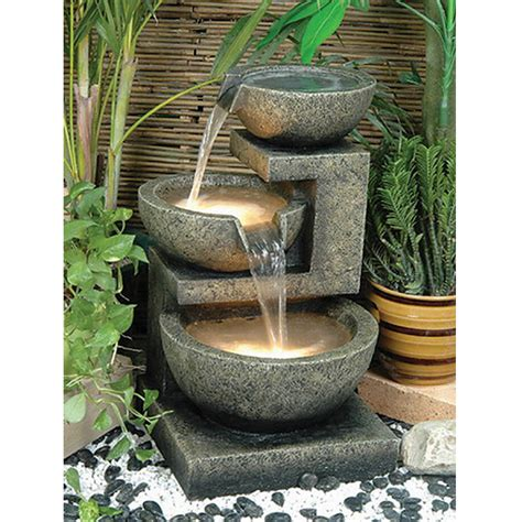 Patio Fountains by Alfresco Home Rocca Water Patio