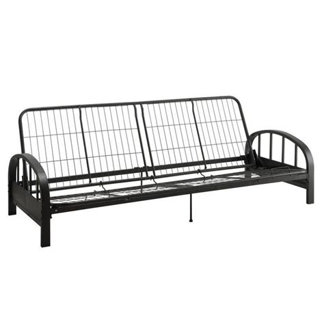 aiden convertible futon sofa frame in black 3273098