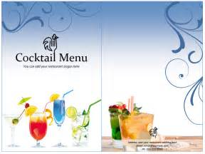 cocktail menu templates cocktail menu template format template