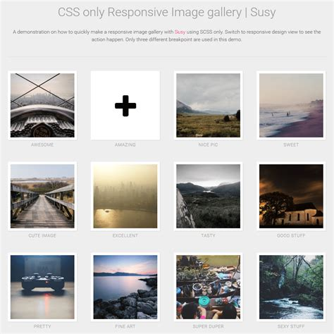 gallery html template css responsive image gallery coding fribly