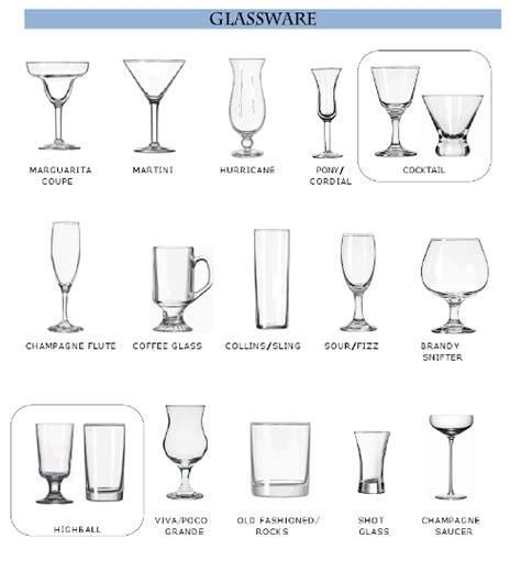 barware glasses types types of barware 28 images 25 best ideas about types