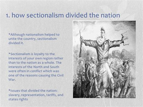 sectionalism and slavery sectionalism