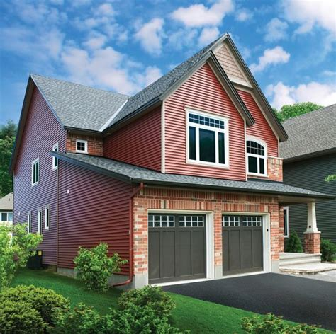 Brown Siding White Trim - brown doors vinyl siding and white trim on