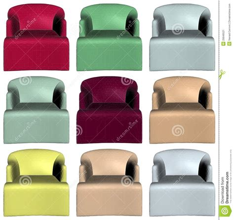 colorful armchairs modern colorful armchairs vector 16 stock image image 29946521