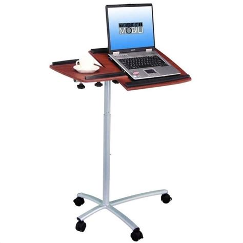 Mobile Laptop Desk Stand Techni Mobili Stand Desk Mahogany Mobile Laptop Cart Ebay