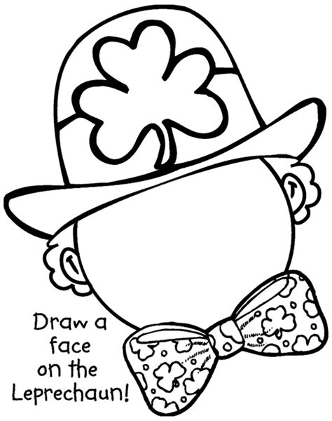 St Patrick Day Crafts For Toddlers Coloring Home Patricks Day Coloring Pages