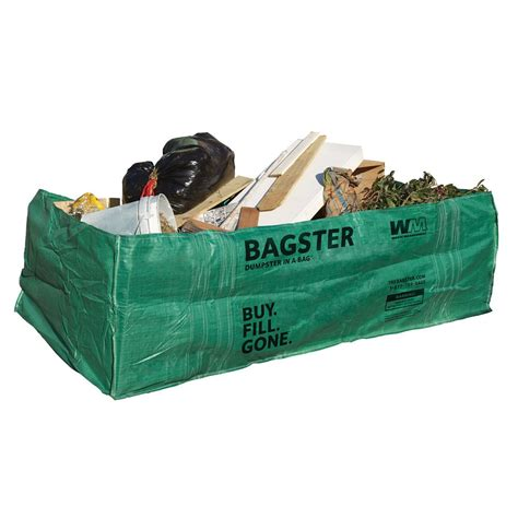waste management bagster dumpster in a bag the home