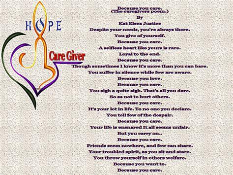 caretakers poem brain cancer awareness the caregiver s poem