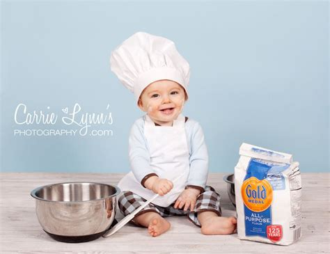adorable for photos baby chef hat and apron set photo