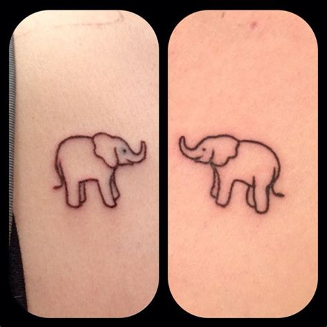 elephant couple tattoo matching elephant tattoos tattoos