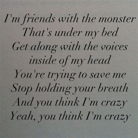 monsters under my bed lyrics i m friends with the monsters under my bed get along